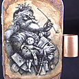 """Saint Nick"" altered Altoid tin w/ accordion album"