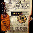 """""""Travel"""" Journal Created Using Pages From a 1928 """"Child's Book  Of Songs"""""""