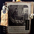 """""""Cradle Hymn"""" A Pregnancy Journal Created Using Pages From an 1878 Childrens Reader"""