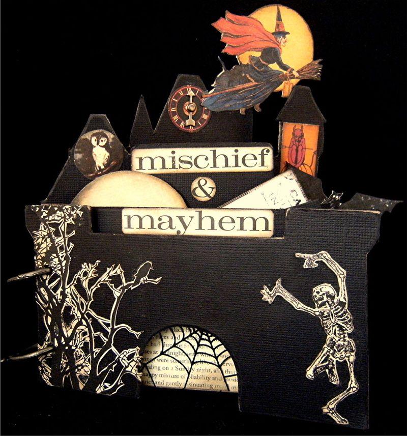 Halloween chipboard album