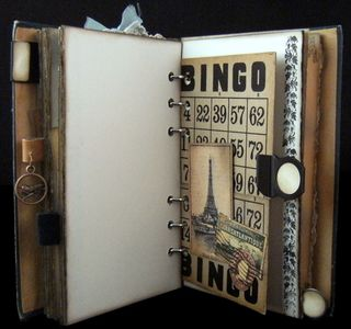 Vintage bingo card pockets