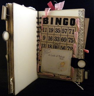 Baby Song Vintage Bingo Card Pocket Front