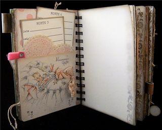 Baby Girl Journal Divider Backside