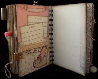 Baby Girl Journal Divider 3 Backside
