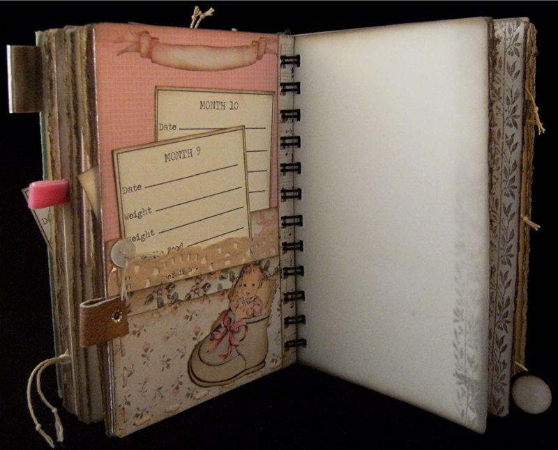Baby Girl Journal Divider 3 Backside