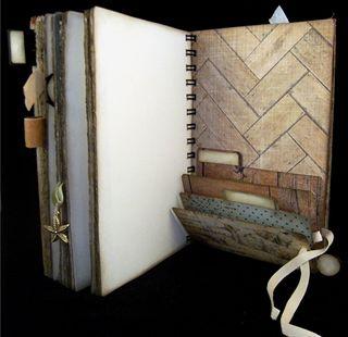 Travel Journal Escape Divider 4 Open