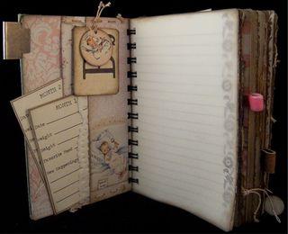 Baby Girl Journal Divider 1 Backside