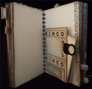 Vintage Bingo Card Pocket