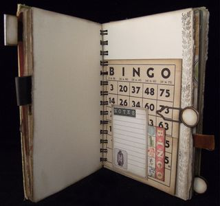 Vintage Bingo Card Pocket