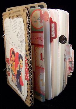 Valentine junque journal open