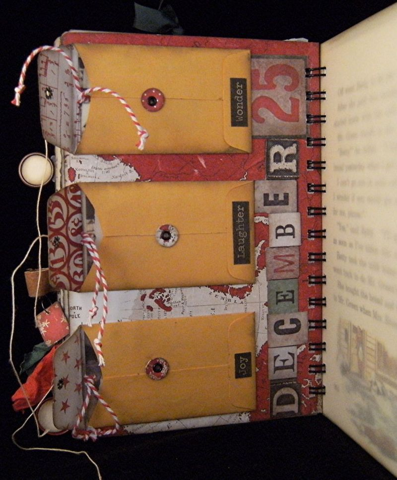 Christmas Journal Coin Envelope Pockets
