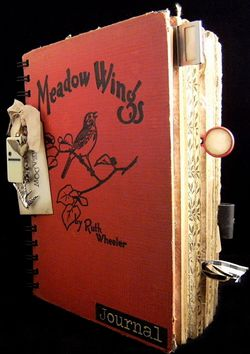 Travel Journal Cover Meadow Wings