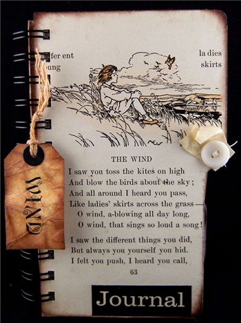 """""""Wind"""" Created Using Pages From a Children's 1907 Second Reader."""