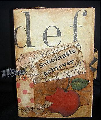 """""""Scholastic Achiever"""" altered accordion board book"""